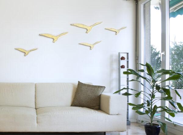 סט ציפורים לתלייה על הקיר