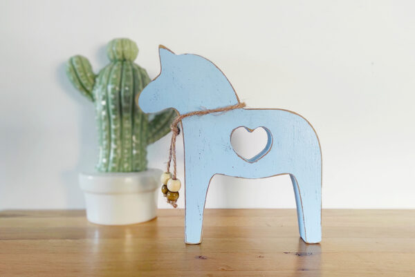 סוס דקורטיבי מעץ