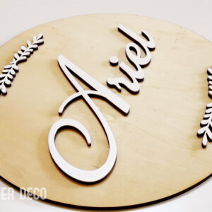 שלט מעץ בעיצוב אישי