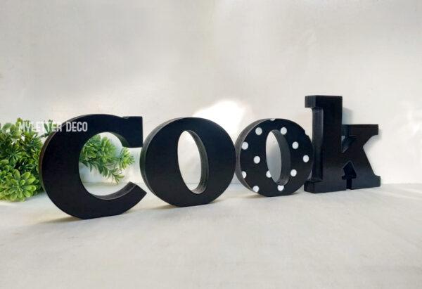 אותיות עץ COOK