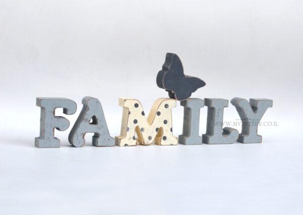 אותיות עץ FAMILY