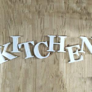 אותיות עץ לקלאפה במטבח